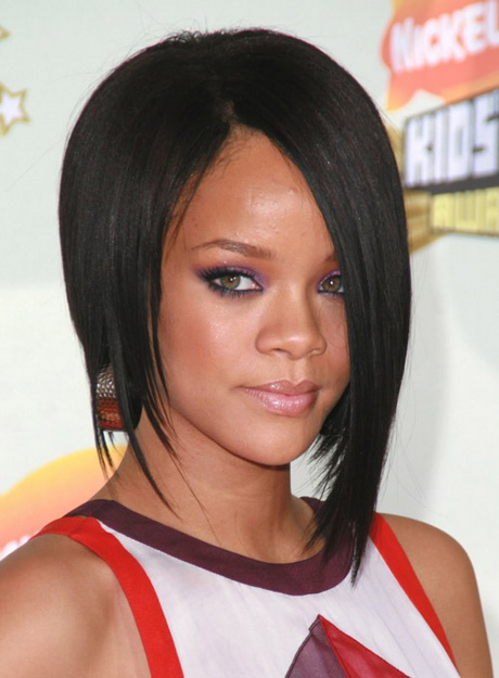 Rihanna Asymmetrical Bob