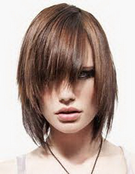 Choppy Medium Length Hairstyles with Bangs