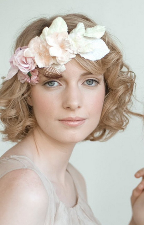 Peinado novia pelo corto - Peinados modernos para boda ...