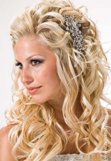 Peinado novia pelo largo for Semirecogido rizado