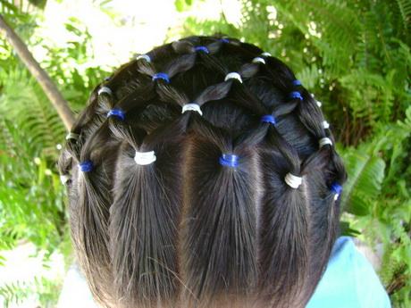 Peinados con ligas sencillos