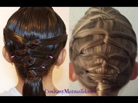 Peinados sencillos para niña con ligas - Imagui