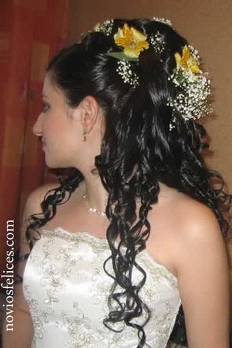 Peinados de novia para pelo rizado for Semirecogido rizado