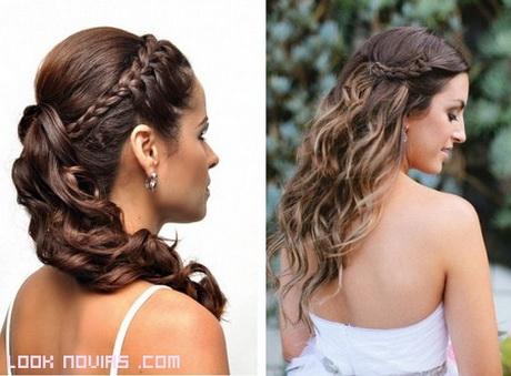 Peinados de novias con trenzas for Recogido bajo trenzado