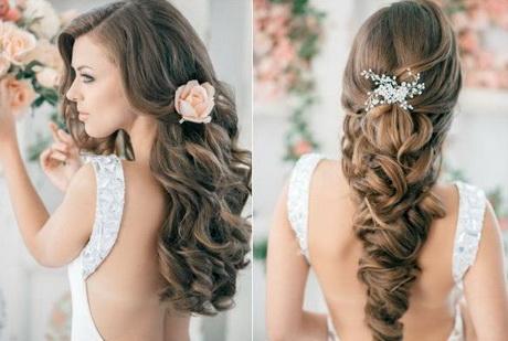 Peinados elegantes de noche cabello largo for Semirecogido rizado