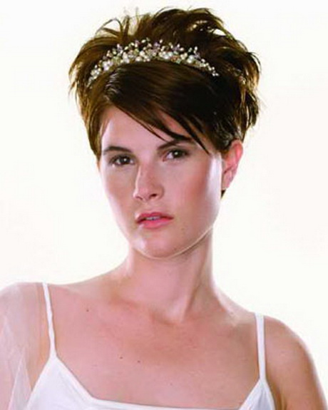 Peinados para boda pelo muy corto - Peinados de novia con flequillo ...