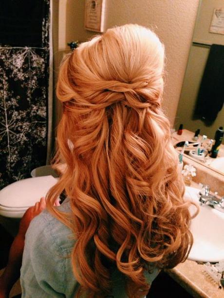 Peinados semirecogidos de noche