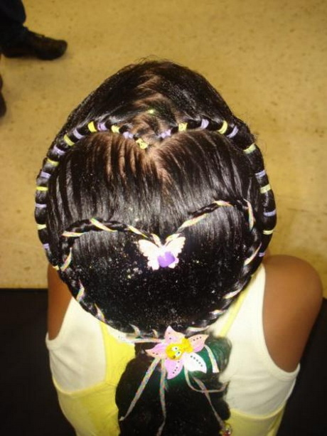 Peinados Infantiles Con Cauchos