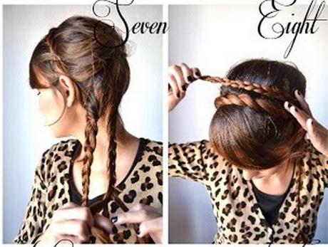 Прическа за 10 своими руками на длинные волосы