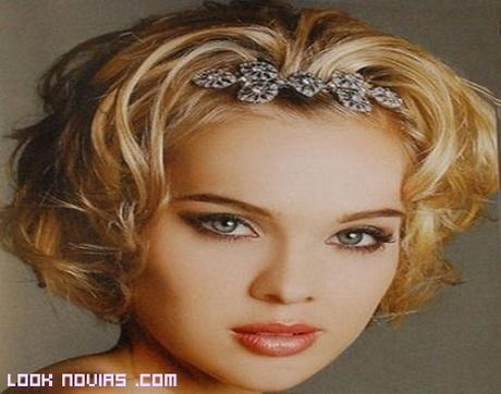 Peinados para cabello corto de novia - Peinados de fiesta melena corta ...
