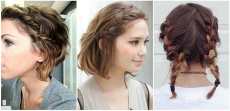 Peinados para cabello corto en trenzas for Recogido bob