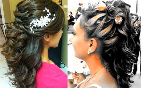 Peinados para fiestas semi recogido - Peinados de boda semirecogidos ...