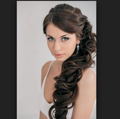 Peinados de xv de lado for Imagenes semirecogidos