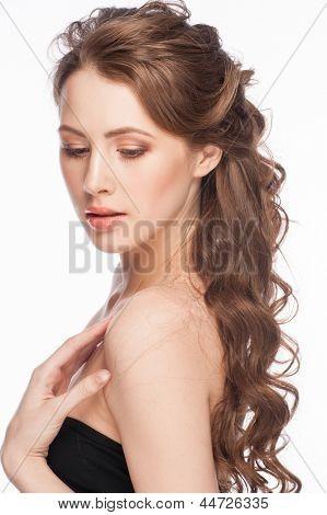 Peinados para boda pelo largo rizado - Peinados de fiesta cabello largo ...