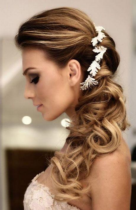 imagenes de peinados de novia 2016 semirecogido