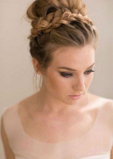 Peinado con trenzas para novias - Peinados de novia actuales ...