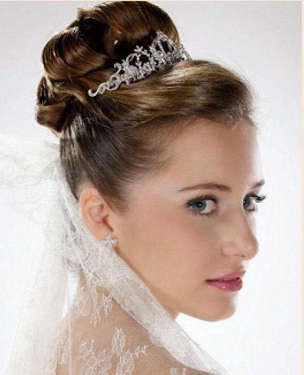 Peinados de novia cabello recogido for Recogidos altos para novias