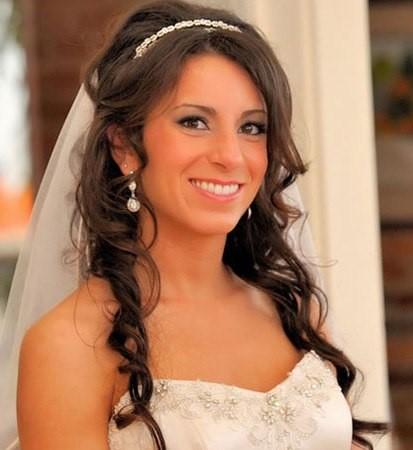 peinados para novias cabello suelto largo