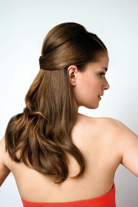 peinados de fiesta semirecogidos pelo liso - Semirecogidos Pelo Liso