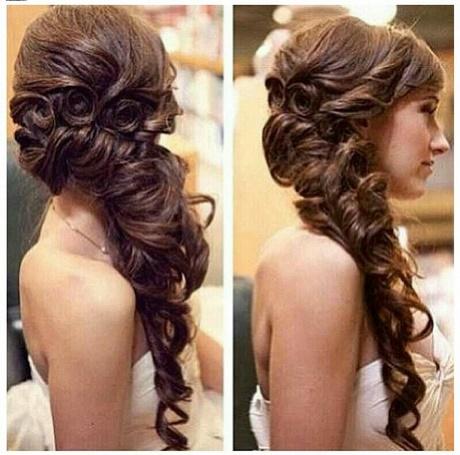 Peinados de noche vestido largo