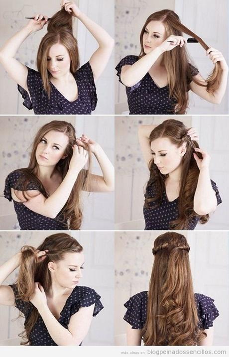 peinados pelo largo liso paso a paso