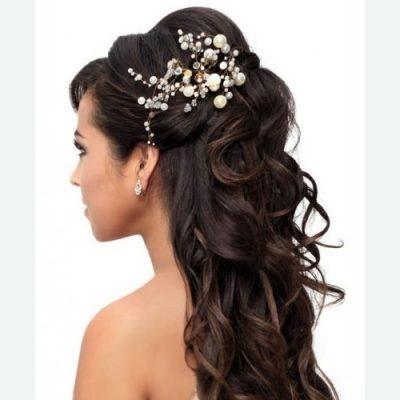 Peinados recogidos para bodas modernos - Peinados de boda semirecogidos ...