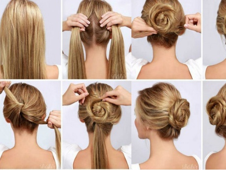 Peinados recogidos pelo largo paso a paso - Peinados faciles recogidos paso a paso ...