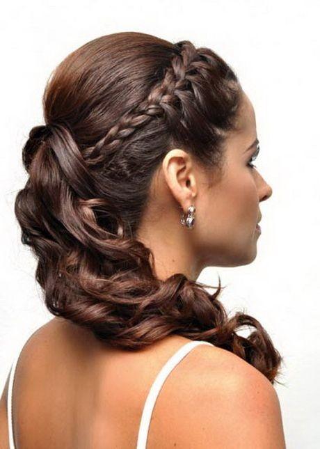 peinados semirecogidos con trenzas para fiestas - Peinados De Fiesta Semirecogidos