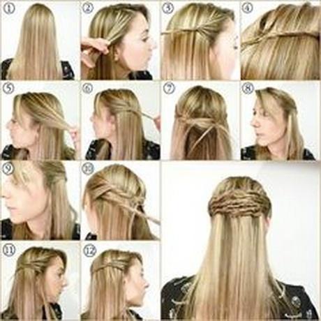 Peinados semirecogidos con trenzas paso a paso - Peinados faciles y rapidos paso a paso ...
