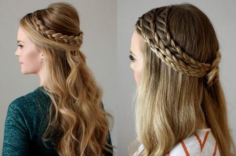 peinados sencillos medio recogidos - Peinados Sencillos