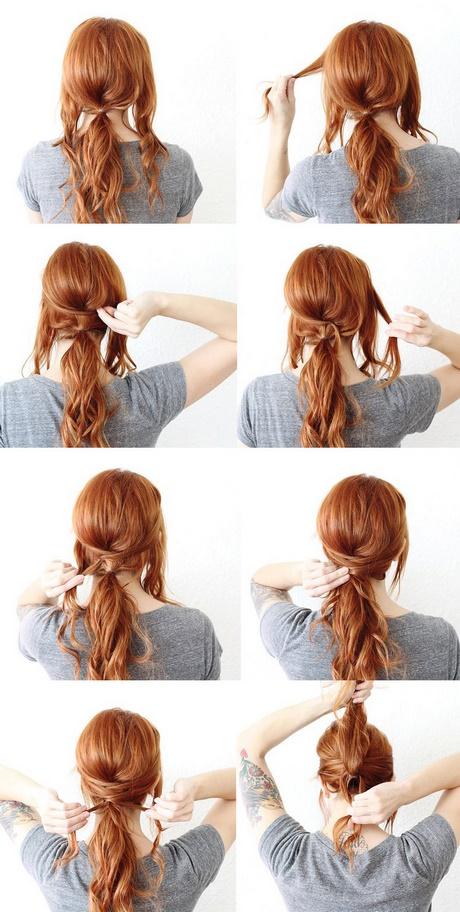 Peinados sencillos para cabello largo recogido - Como hacer peinados faciles y rapidos paso a paso ...