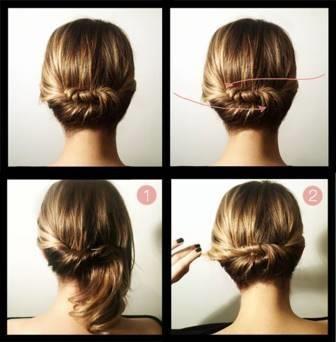 Peinados sencillos recogidos paso a paso for Recogidos bonitos y sencillos