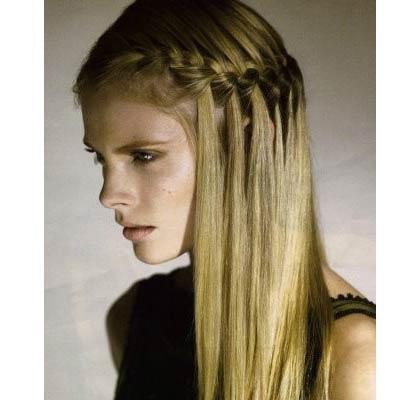 semirecogidos pelo liso trenzas - Peinados Lisos