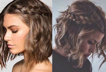 Trenzas para cabello corto ondulado