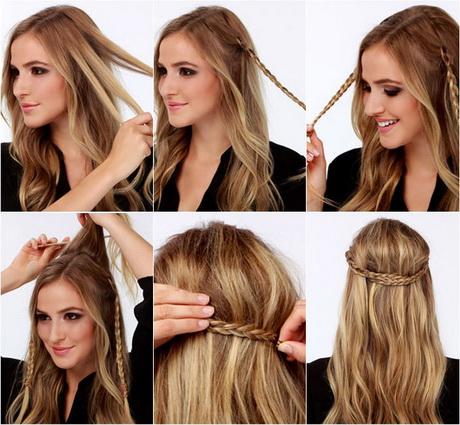 Peinados sueltos con trenzas paso a paso - Peinados para bodas faciles de hacer en casa ...