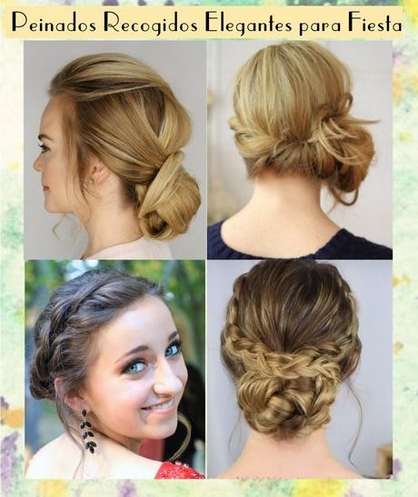 Peinados sencillos elegantes para fiesta for Recogidos bonitos y sencillos