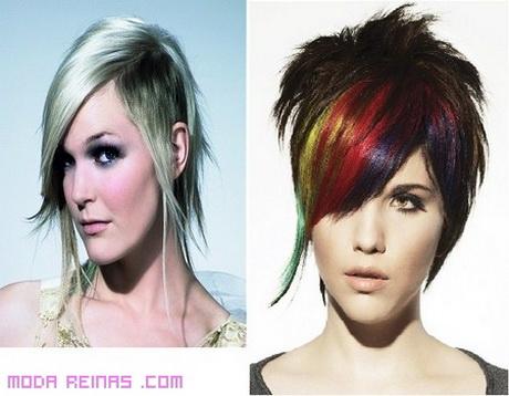 En una tendencia ascendente peinados punk mujer Fotos de las tendencias de color de pelo - Cortes de pelo punk mujer