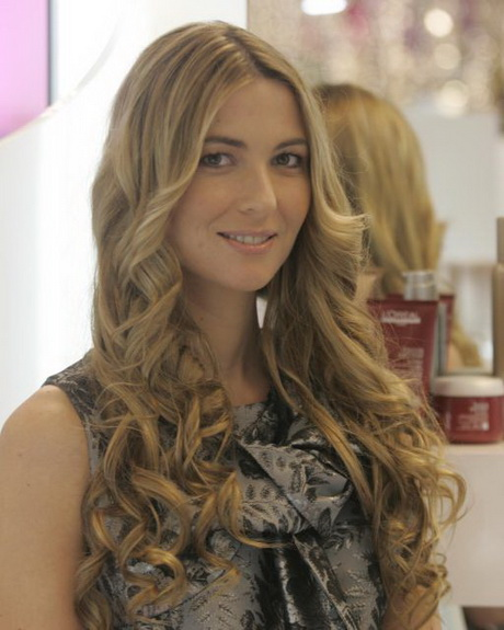 De moda peinados rizos Fotos de tutoriales de color de pelo - Peinados con rizos para fiestas