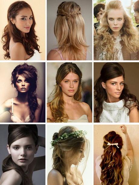 Clásico y sencillo peinados novia media melena Galeria De Cortes De Pelo Tendencias - Peinados de novia media melena