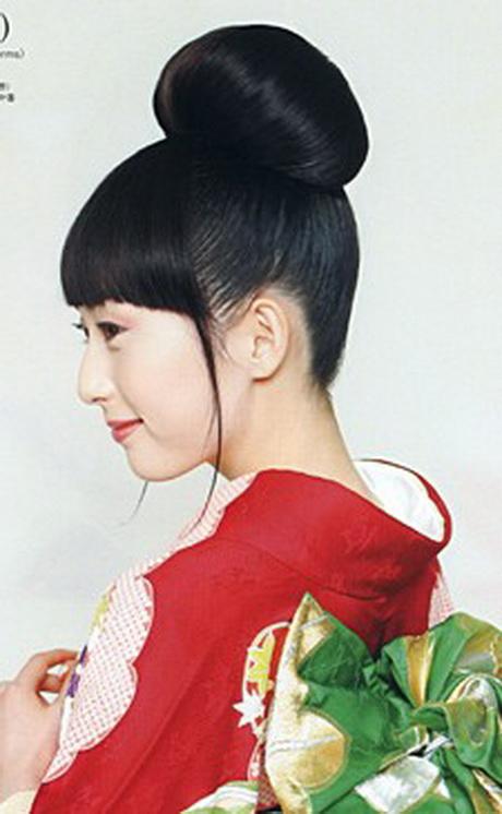 Bonito y sencillo peinados japoneses Fotos de cortes de pelo tutoriales - Peinados japoneses