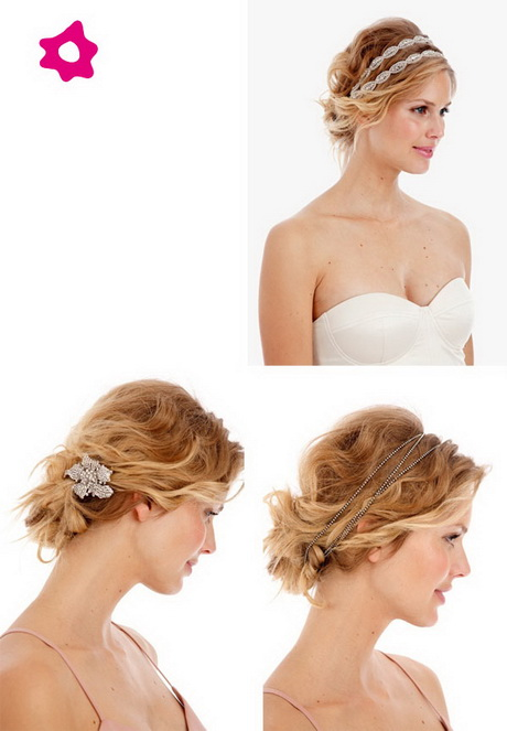Bonito y sencillo peinados melena corta para boda Fotos de cortes de pelo Consejos - Peinados para boda pelo corto