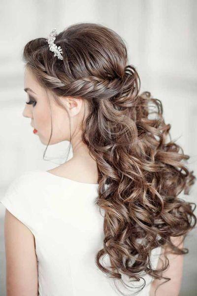 Elegante peinados pelo largo para boda Colección De Cortes De Pelo Ideas - Peinados para boda pelo largo rizado