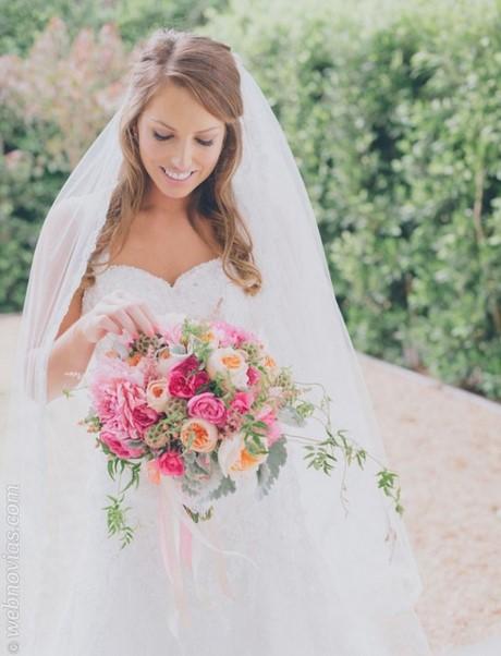 Acogedor peinados de novia pelo suelto Galería De Tutoriales De Color De Pelo - Peinados de novia pelo suelto con velo