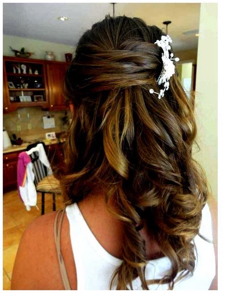 Oportunidades impresionantes peinados medio recogido Imagen de cortes de pelo Ideas - Medio recogido boda
