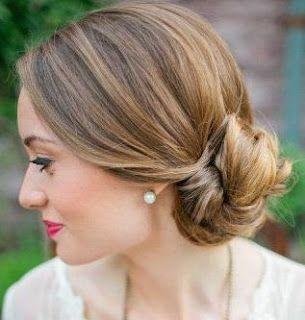 Сharming peinados recogidos pelo corto Imagen De Consejos De Color De Pelo - Peinados para pelo corto recogido