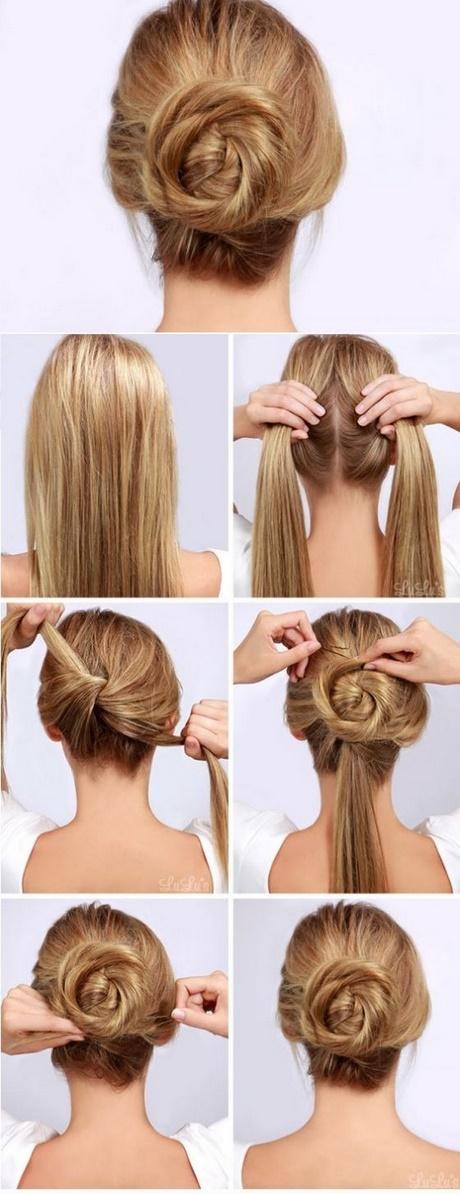 Formas modernas de peinados sencillos pelo largo Fotos de cortes de pelo tutoriales - Peinados recogidos con pelo largo