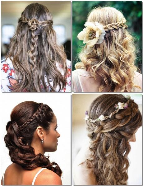 Más cautivador peinados para bodas media melena Imagen de tutoriales de color de pelo - Semirecogidos para bodas media melena