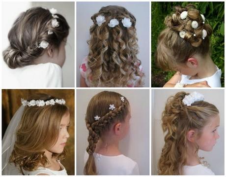 Un look impactante con peinados para niñas de primera comunion Fotos de cortes de pelo Consejos - Peinados para comunion