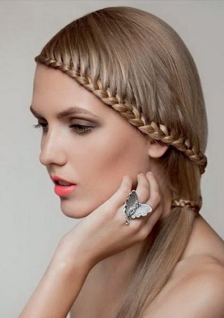Fácil peinados con trenzas y pelo suelto Colección de tendencias de color de pelo - Peinados elegantes con trenzas y cabello suelto