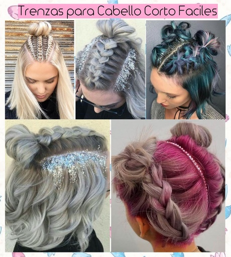 Encantador peinados con trenzas paso a paso Colección de estilo de color de pelo - Peinados para cabello corto trenzas paso a paso